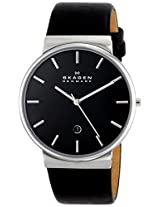 Skagen Ancher Analog Black Dial Men's Watch - SKW6104