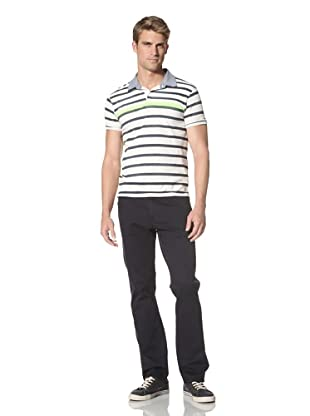 Scotch & Soda Men's Stripe Summer Polo (Navy)