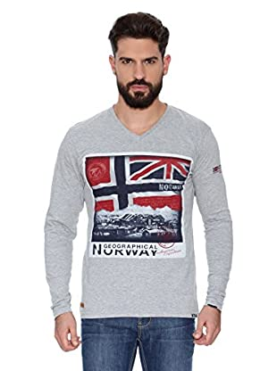 Geographical Norway Camiseta Manga Larga ML Jatchmen Ls Men 402 (Gris)