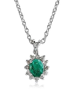 Divas Diamond Collar Esmeralda Plata