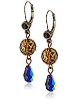 "Liz Palacios ""Arco Iris"" Swarovski Elements Crystal Ball Drop Earrings"