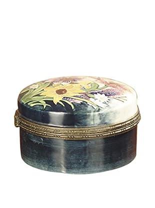 Dale Tiffany English Garden Jewelry Box, Cream Multi