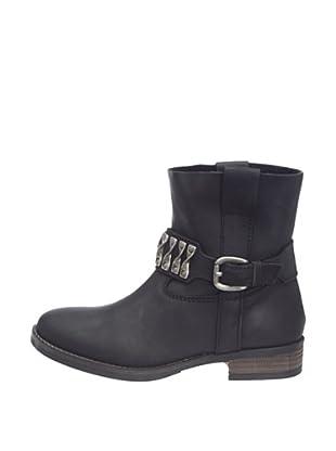 Buffalo London ES 11051 CRAZY HORSE 123428 - Botas de cuero para mujer (Negro)