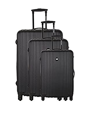 Bag Stone Set de 3 trolleys rígidos Snow Negro