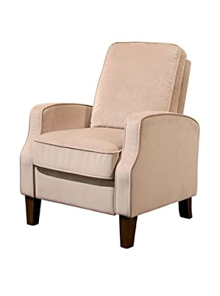 Abbyson Living Snapper Microsuede Pushback Recliner, Beige