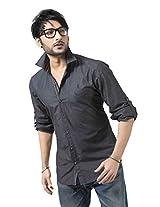 Redox Slim Fit Shirt [5007-2-09_Charcoal Black_XXL]
