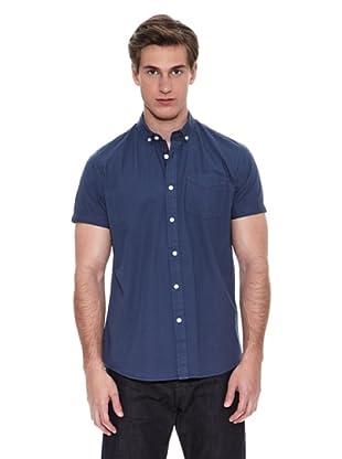 Springfield Camisa Camisa Verano Solid Poplin Garment Dyed (Azul)