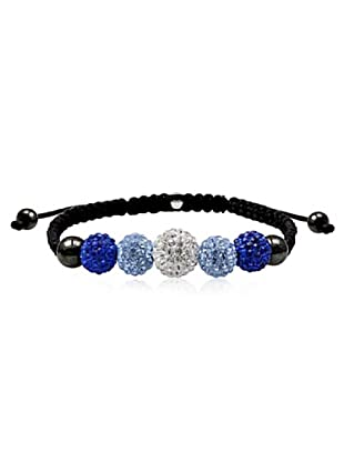 Frou Frou Bijoux Bracciale Swarovski nero blu trasparente