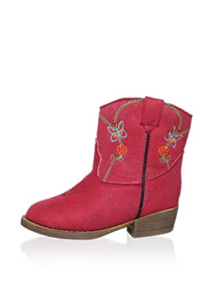 Dingo Kid's Embroidered Butterfly Boot (Red)
