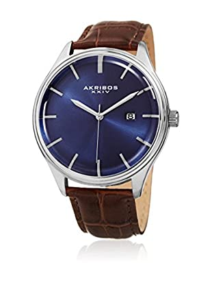 Akribos XXIV Quarzuhr Man Akribos Xxiv Men'S Classic Date Leather Strap Watch braun 45 mm