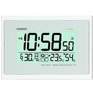 CASIO (カシオ) 電波デジタル掛け時計 温度・湿度表示 ホワイト IDL-100J-7JF IDL-100J-7JF