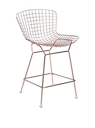 Zuo Wire Counter Chair, Rose Gold