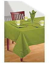 SWAYAM Cotton 10 Piece Kitchen Linen Set - Grass Green