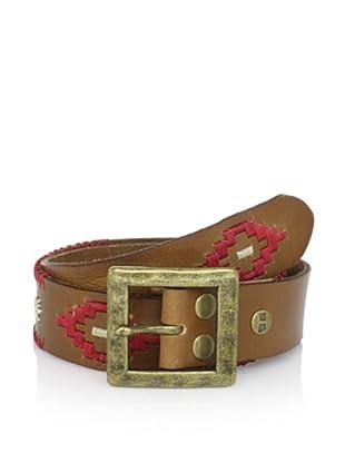 Bed Stu Women's Syrena Diamond Detail Leather Belt (Tan)