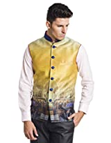Designer Silk Digital printed Dapper waistcoat