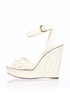 PRADA Women's Wedge Sandal (White)