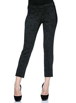 Annarita N Pantalón de Vestir Skinny/Aderente (Negro)