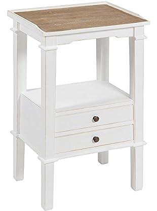 Colonial Style Kleine Konsole weiß/braun