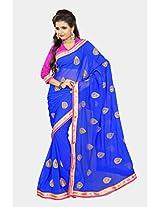 Chirag Sarees Designer Partywear Bridal Marriage Collection 394-BLUE