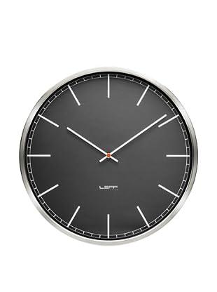 Leff Amsterdam Stainless Steel Index Clock, Black