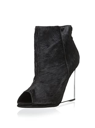 Schutz Women's Briann Open Toe Shoe Bootie (Black)