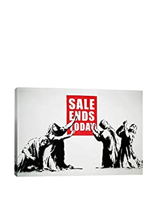 Banksy Sale Ends Today Gallery Wrapped Canvas Print