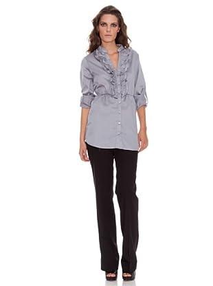 Naf Naf Camisa Volantes (gris)