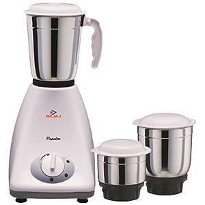 Bajaj Popular 450-Watt Mixer Grinder with 3 Jars