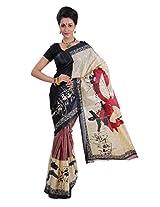 Parichay Women's Silk Saree(Maroon & Beige)