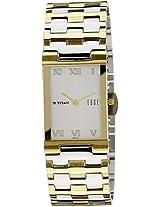 Titan Edge Analog White Dial Men's Watch - 1296BM02