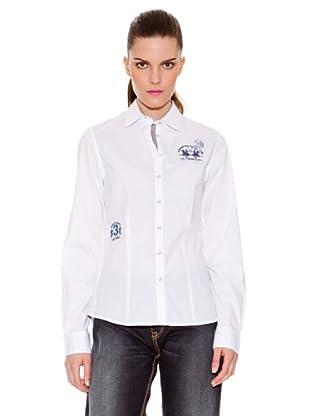 La Martina Camisa Logotipos (Blanco)