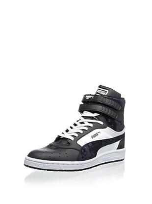 PUMA Women's Sky II HI SHMR Fashion Sneaker (Black/White)