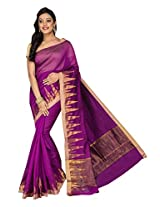 Korni Cotton Silk Banarasi Saree DS-1528- Purple KR0462