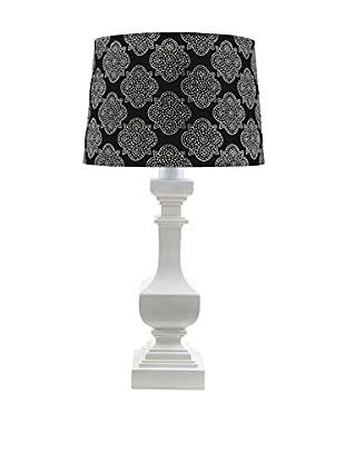 Surya Carolina Outdoor Table Lamp, Black/White