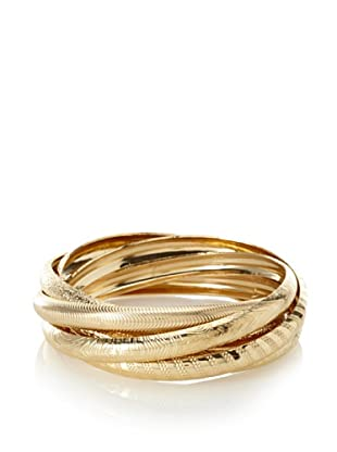 Jules Smith 14K Gold-Plated Intertwined Bangle Set