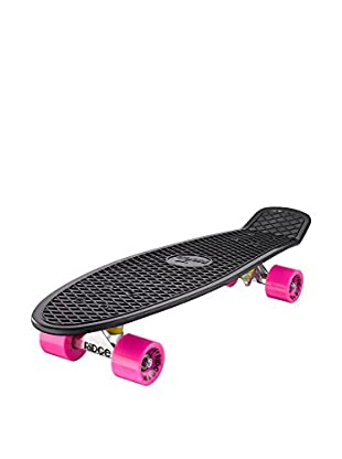 Ridge Skateboards Monopatín Big Brother Cruiser Negro / Fucsia