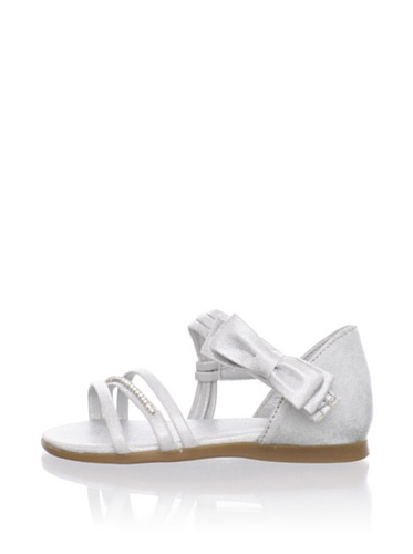 Pampili Kid's Rhinestone Strap Sandal (Silver)