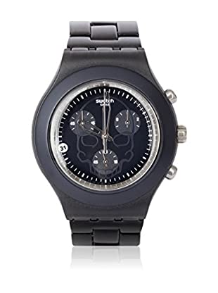 Swatch Quarzuhr Man FULL-BLOODED BLACK SKULL SVCF4001AG 43.0 mm