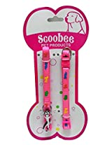 Printed Collar and Leash Set Small Pink