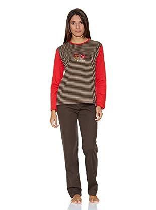 Asman Pijama Señora (Marrón)