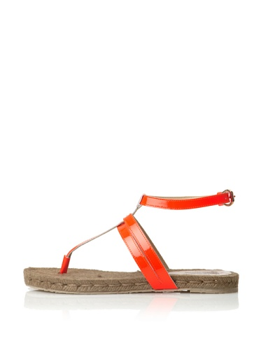 Belle by Sigerson Morrison Women's Milly Thong Sandal (Red Fluorescent)