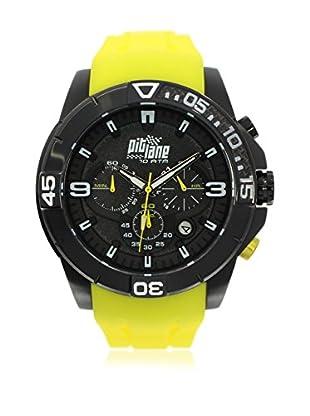 Pit Lane Uhr mit Miyota Uhrwerk Man Pl-1009-5 gelb 50 mm