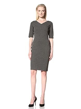 Les Copains Women's Fitted Dress with Seaming Detail (Grey)
