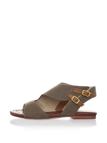 Matt Bernson Women's Sidecar Flat Sandal (Brown)