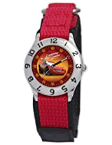 Disney Kid's D015S505 Cars Time Teacher Red Velcro Watch