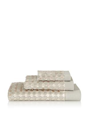 Famous International Art Deco- Dot 3 Piece Towel Set (Copper)
