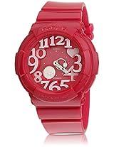 Baby-G Bga-130-4Bdr-Bx006 Hot Pink/Red Or Pink Analog Watch Casio