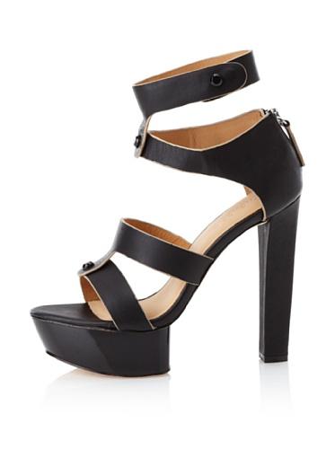 L.A.M.B. Women's Mollie Platform Sandal (Black)