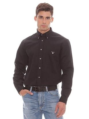 Gant Camisa Lisa (negro)