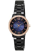 Titan Ceramic Analog Black Dial Women's Watch - 95017KC02J